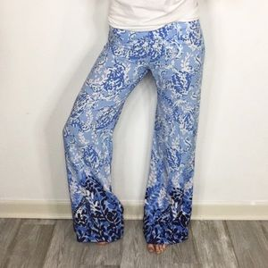 NWT LILLY PULITZER super flared pants floral
